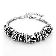 Heren Armbanden met ketting en sluiting meetkundig Gothic Hip-hop Legering Armband sieraden Zilver Voor Dagelijks Afspraakje