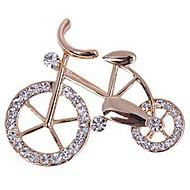 Kadın's Broşlar Yapay Elmas Bisiklet Bayan Tatlı Zarif Broş Mücevher Altın Uyumluluk Günlük