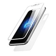 Недорогие Защитные плёнки для экрана iPhone-Защитная плёнка для экрана Apple для iPhone X Закаленное стекло 2 штs Защитная пленка для экрана и задней панели 3D закругленные углы
