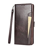 Недорогие Чехлы и кейсы для Galaxy Note 8-Кейс для Назначение SSamsung Galaxy Note 8 Note 5 Бумажник для карт Флип Чехол Сплошной цвет Твердый Кожа PU для Note 8 Note 5