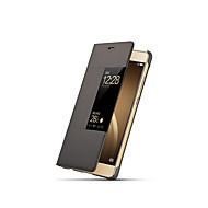 Etui Til Huawei P9 / Huawei / Huawei P9 Plus P9 Flipp / Auto Sove / Våkne Heldekkende etui Ensfarget Hard PC til Huawei P9 Plus / Huawei P9 / Huawei