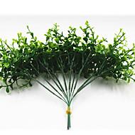 25cm 10 adet 10 izin / şube mini okaliptus yeşil çim ev dekorasyon yapay çiçekler