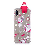 Недорогие Кейсы для iPhone 8-Кейс для Назначение IPhone 7 / iPhone 7 Plus / iPhone 6s Plus iPhone X / iPhone 8 Plus Защита от удара Кейс на заднюю панель 3D в мультяшном стиле / Рождество Мягкий ТПУ для iPhone 8 Pluss / iPhone 8