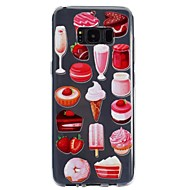 Недорогие Чехлы и кейсы для Galaxy S7-Кейс для Назначение SSamsung Galaxy S8 Plus S8 Прозрачный С узором Рельефный Кейс на заднюю панель Продукты питания Мягкий ТПУ для S8