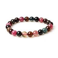 Women's Strand Bracelet Multi-stone Simple Fashion Gemstone Circle Jewelry For Street