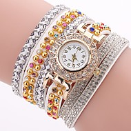 tanie Zegarki boho-Damskie Na codzień Modny Zegarek na bransoletce Sztuczny Diamant Zegarek Chiński Kwarcowy sztuczna Diament PU Pasmo Na co dzień
