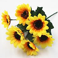 30cm 5 adet 7 baş / dal güneş çiçek ev dekorasyon yapay çiçekler