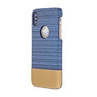 Недорогие Кейсы для iPhone 8 Plus-Кейс для Назначение Apple iPhone X iPhone 8 Защита от удара Задняя крышка Сплошной цвет Мягкий Текстиль для iPhone X iPhone 8 Plus iPhone
