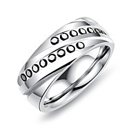 Men's Band Rings Resin Casual Korean Titanium Steel Geometric Jewelry For Other Daily