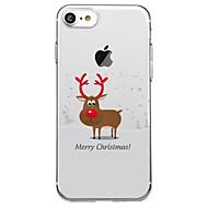 Недорогие Кейсы для iPhone 8-Кейс для Назначение Apple iPhone X iPhone 8 Plus С узором Кейс на заднюю панель Рождество Животное Мягкий ТПУ для iPhone X iPhone 8 Pluss