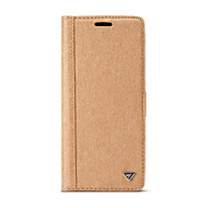 Недорогие Чехлы и кейсы для Galaxy S7-Кейс для Назначение SSamsung Galaxy S8 Plus S8 Бумажник для карт со стендом Флип Своими руками Чехол Сплошной цвет Твердый деревянный для