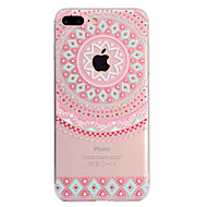 Недорогие Кейсы для iPhone 8 Plus-Кейс для Назначение Apple iPhone X iPhone 8 Plus С узором Кейс на заднюю панель Кружева Печать Мягкий ТПУ для iPhone X iPhone 8 Pluss