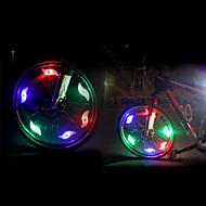 abordables -luces de seguridad LED LED Ciclismo Luminoso CR2032 200 Lumens Batería CR2032 Multicolor Verde Azul Rojo Ciclismo