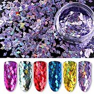6  color   The Diamond Laser Colorful Sequins  1g/box