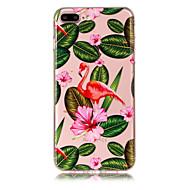 Недорогие Кейсы для iPhone 8-Кейс для Назначение Apple iPhone X iPhone 8 Plus Прозрачный С узором Кейс на заднюю панель Фламинго Мягкий ТПУ для iPhone X iPhone 8