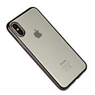 Недорогие Кейсы для iPhone 8 Plus-Кейс для Назначение Apple iPhone X iPhone 8 Защита от удара Покрытие Прозрачный Кейс на заднюю панель Сплошной цвет Мягкий ТПУ для iPhone