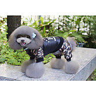 Cat Dog Coat Clothes/Jumpsuit Dog Clothes New Casual/Daily Keep Warm Christmas Letter & Number Black