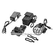Linternas de Cabeza LED 10000 lm 1 Modo Cree XM-L T6 Recargable para Camping/Senderismo/Cuevas Ciclismo Caza Pesca Viaje