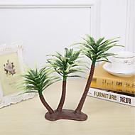 13cm 4 adet ev dekorasyonu mini yapay plastik hindistanceviz ağaçları