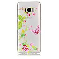 Кейс для Назначение SSamsung Galaxy S8 Plus S8 Прозрачный С узором Задняя крышка Бабочка Цветы Мягкий TPU для S8 S8 Plus S7 edge S7 S6