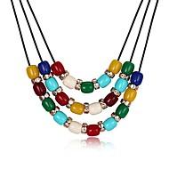 お買い得  -女性用 ペンダントネックレス  -  ゴールドメッキ ファッション レインボー ネックレス 1 用途 パーティー, 日常