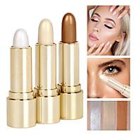 1Pcs Shading Powder Bronzer Stick Trimming Face Contour White Gold Shimmer Glow
