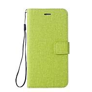 billige Mobilcovers-Etui Til Huawei P9 Lite P8 Lite P8 Lite (2017) P10 Plus P10 Lite P10 Pung Kortholder Med stativ Flip Heldækkende Helfarve Anden Hårdt