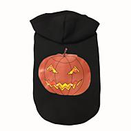 Dog Hoodie Dog Clothes Halloween Pumpkin Black