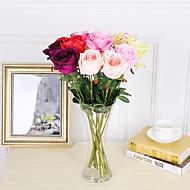 3 şube ipek güller 53cm ev dekorasyon yapay çiçekler 5 renk