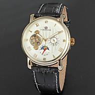 FORSINING Muškarci Modni sat Sat uz haljinu Ručni satovi s mehanizmom za navijanje Automatski Kalendar Mjesec faza Koža Grupa Vintage