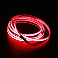 halpa LED-hehkulamput-brelong 5m el neon kylmä nauhat kevyt - autolaturi