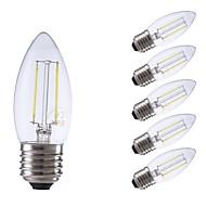 お買い得  -GMY® 6本 2W 250/200lm E27 フィラメントタイプLED電球 C35 2 LEDビーズ COB 装飾用 LEDライト 温白色 クールホワイト 220-240V