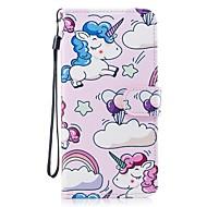 Кейс для Назначение SSamsung Galaxy S8 Plus S8 Кошелек Бумажник для карт со стендом Флип С узором Чехол единорогом Твердый Искусственная