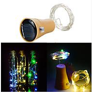 abordables Tiras de Luces LED-1m Cuerdas de Luces 10 LED SMD 0603 Blanco Cálido / Blanco Fresco Solar / Impermeable / Decorativa Funciona con Energía Solar 1pc