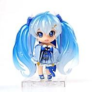 저렴한 -보컬 로이드 스노우 miku pvc 10cm 모델 장난감 인형 장난감에서 영감을 얻은 애니메이션 액션 피규어