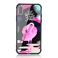 Недорогие Кейсы для iPhone 8-Кейс для Назначение Apple iPhone X iPhone 8 Защита от удара С узором Кейс на заднюю панель Слова / выражения Фламинго Твердый Закаленное