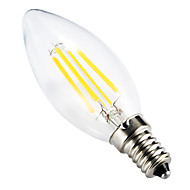 cheap LED Filament Bulbs-4W E14 LED Filament Bulbs C35 leds COB Decorative Dimmable Warm White 300-350lm 2800-3200K AC 220-240V
