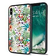 Недорогие Кейсы для iPhone 8 Plus-Кейс для Назначение Apple iPhone X / iPhone 8 Plus С узором Кейс на заднюю панель Фламинго / Цветы Мягкий ТПУ для iPhone X / iPhone 8 Pluss / iPhone 8