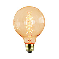 halpa Hehkulamppu-1kpl 40W E26/E27 G95 K Himmennetty Vintage Edison-hehkulamppu AC 220-240V V