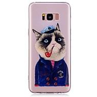 halpa Uudet tuotteet-Etui Käyttötarkoitus Samsung Galaxy S8 Plus S8 Kuvio Takakuori Kissa Pehmeä TPU varten S8 Plus S8