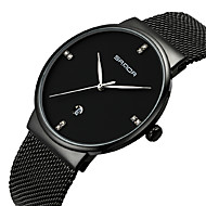 billige -Dame Unike kreative Watch Simulert Diamant Klokke Armbåndsur Japansk Quartz Kalender Vannavvisende Legering Band Elegant Svart Hvit