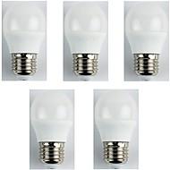 5pcs 4W E27 LED 글로브 전구 G45 6 LED가 SMD 3528 따뜻한 화이트 310lm 3000K AC 180-240V