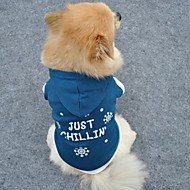 Cat Dog Shirt / T-Shirt Hoodie Sweatshirt Dog Clothes Stylish Keep Warm Christmas Letter & Number Snowflake Blue Costume For Pets