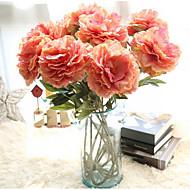 abordables Flores Artificiales-Flores Artificiales 1 Rama Elegante Peonías Flor de Mesa