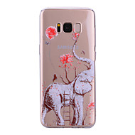 billige Galaxy S7 Etuier-Etui Til Samsung Galaxy S8 Plus S8 IMD Mønster Bagcover Transparent Elefant Blødt TPU for S8 Plus S8 S7 edge S7 S6 edge S6 S5
