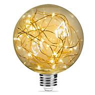 abordables Bulbos de decoración-1pc 3W 200lm E26 / E27 Bombillas de Filamento LED G95 33 Cuentas LED SMD Estrellado Decorativa Blanco Cálido 85-265V