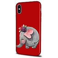Недорогие Кейсы для iPhone 8 Plus-Кейс для Назначение Apple iPhone X iPhone 8 Plus С узором Кейс на заднюю панель Слон Мультипликация Мягкий ТПУ для iPhone X iPhone 8