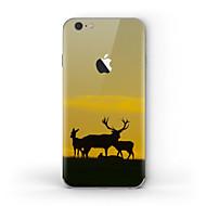 olcso iPhone kijelzővédők-1 db Tok matrica mert Karcolásvédő Apple logo Minta Matt PVC iPhone 6s/6