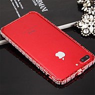 Недорогие Кейсы для iPhone 8-Кейс для Назначение IPhone 7 / Apple iPhone 7 Защита от удара Бампер Однотонный Твердый Металл для iPhone 8 / iPhone 7