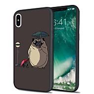 Недорогие Кейсы для iPhone 8 Plus-Кейс для Назначение Apple iPhone X iPhone 8 Plus С узором Кейс на заднюю панель С собакой Мультипликация Мягкий ТПУ для iPhone X iPhone 8